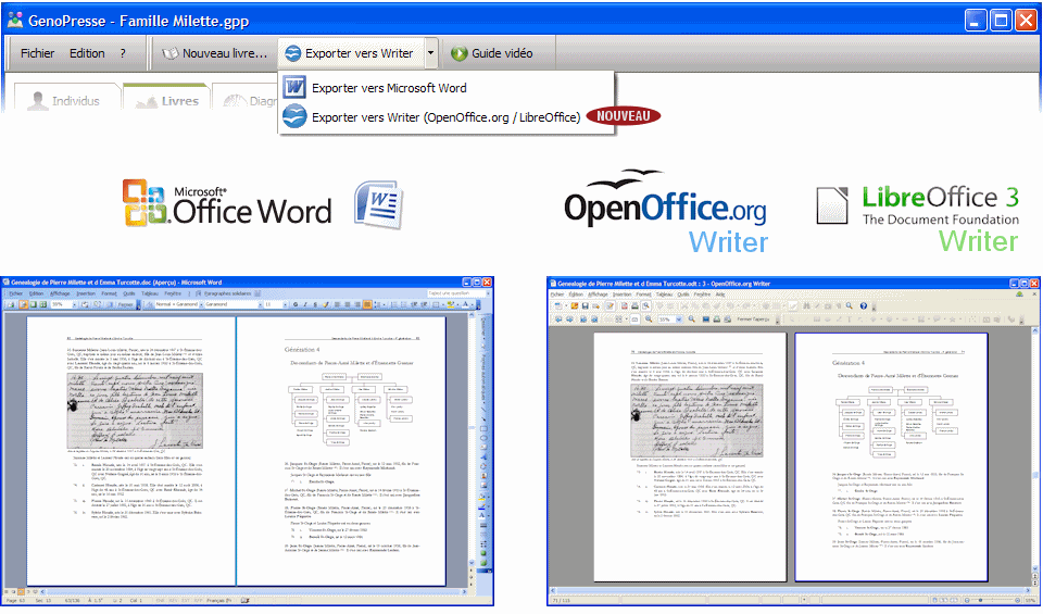 Imprimer sa g n alogie avec writer ou word - Open office writer gratuit ...
